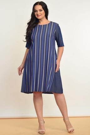 Купить Платье Lady Style Classic 1336 синий, Платья, 1336, синий, Вискоза 72%+ПЭ 25%+ПУ 3%, Лето