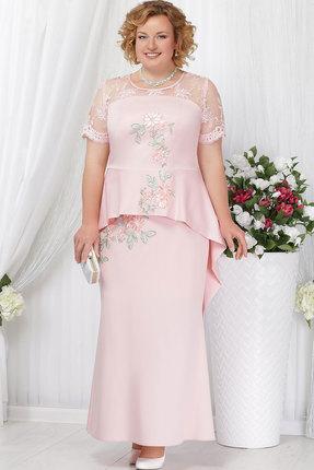 Купить Платье Ninele 5536 пудра , Платья, 5536, пудра , Вискоза-55%, Полиэстер-35%, Спандекс-10%, кружево - ПЭ-100%, подкладка - хлопок 100%, Мультисезон