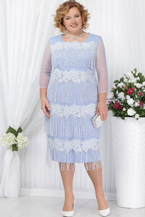 Купить Платье Ninele 5622 голубой, Платья, 5622, голубой, Полиэстер 95%, Спандекс 5%, Кружево - ПЭ-100%, Подкладка - Полиэфир 95%, Мультисезон