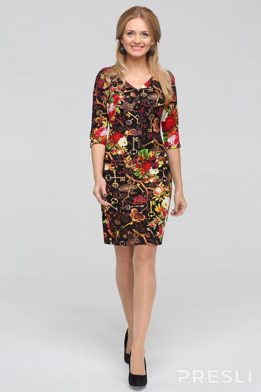 Платье Теллура-Л 1177 X разноцветный