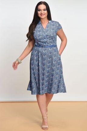Купить Платье Lady Style Classic 1101 синий, Платья, 1101, синий, Вискоза 72%+ПЭ 25%+ПУ 3%, Лето