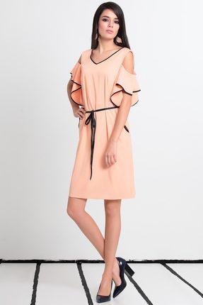 Купить Платье Noche Mio 1.484 персик , Платья, 1.484, персик , ПЭ 73%+Вискоза 24%+Эластан 3% Подкладка: ПЭ 85%+Вискоза 12%+Эластан 3%, Лето