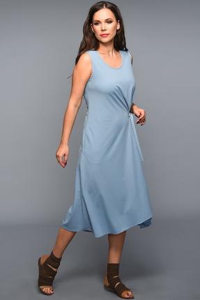 Купить Платье Teffi style 1334 голубой, Платья, 1334, голубой, 48% вискоза, 46%полиамид, 6%ПЭ, Мультисезон