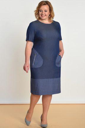 Купить Платье Lady Style Classic 1482 джинс, Платья, 1482, джинс, Вискоза 72%+ПЭ 25%+ПУ 3%, Лето