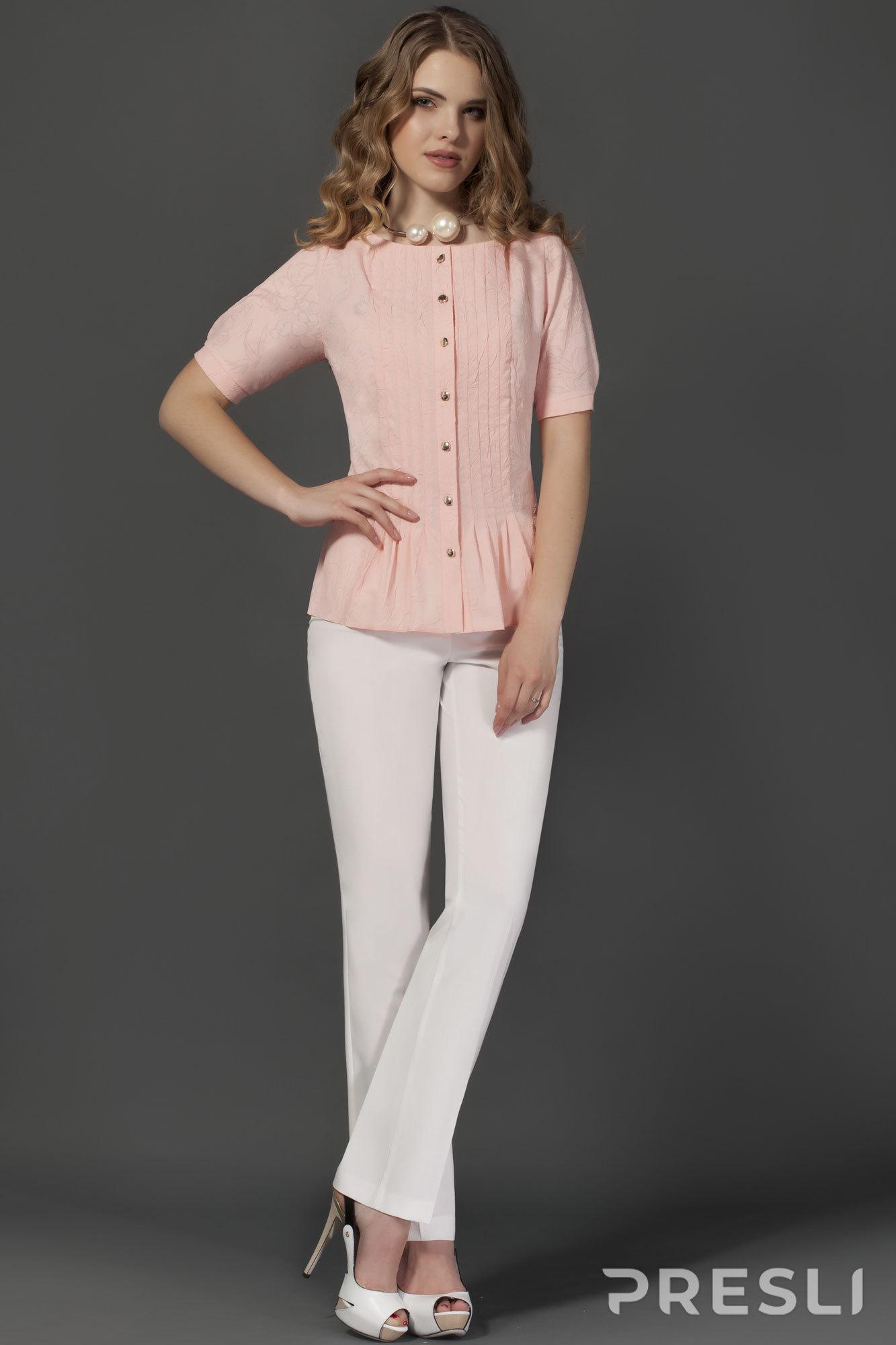 Комплект брючный Lissana 2350 розовый + белый
