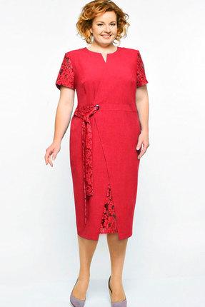 Купить Платье Elga 01-542 красный, Повседневные платья, 01-542, красный, 68% Вискоза 30% ПЭ 2% Спандекс, Лето