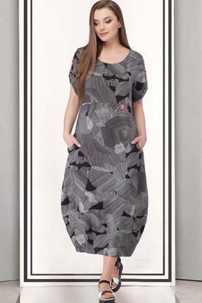 Купить Платье ТАиЕР 689 серый, Платья, 689, серый, Хлопок - 100%, Лето