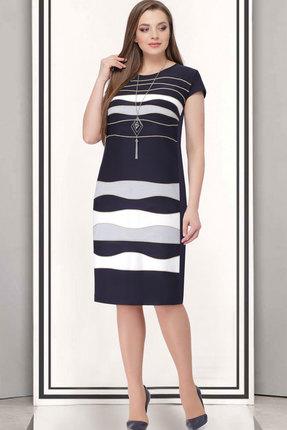 Купить Платье ТАиЕР 698 тёмно-синий+белый, Платья, 698, тёмно-синий+белый, ПЭ - 100%, Лето