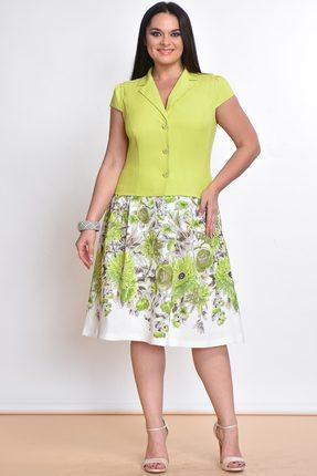 Купить Комплект юбочный Lady Style Classic 1180-2 лайм с цветами, Юбочные, 1180-2, лайм с цветами, Жакет: ПЭ 73%+Вискоза 25%+ПУ 2% Юбка: Вискоза 84%+ПЭ 16% Подкладка: Хлопок 100%, Лето