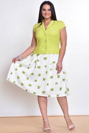 Купить со скидкой Комплект юбочный Lady Style Classic 1180-1 лайм с белым