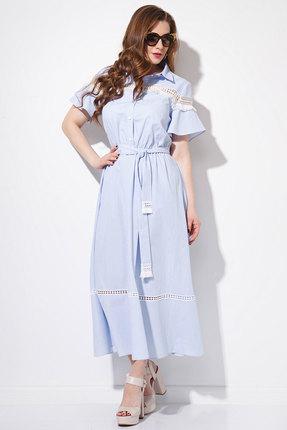 Купить Платье Anna Majewska 1114 голубые тона, Платья, 1114, голубые тона, Хлопок-100%, Лето