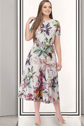 Купить Платье ТАиЕР 527.2 мультиколор, Платья, 527.2, мультиколор, Вискоза - 60%, полиэстер - 37%, лайкра - 3%, Мультисезон