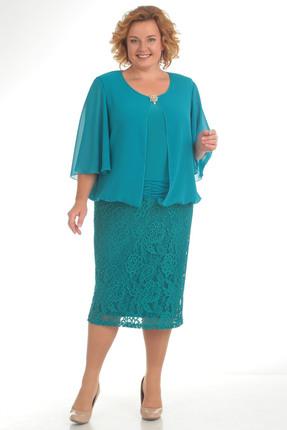 Купить Платье Pretty 651 бирюзовый, Платья, 651, бирюзовый, 6% полиэстр 4% спандекс, 100% полиэстр, Мультисезон