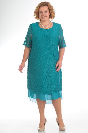 Купить Платье Pretty 709 бирюза, Платья, 709, бирюза, 96% полиэстр 4% спандекс, 100% полиэстр, Мультисезон