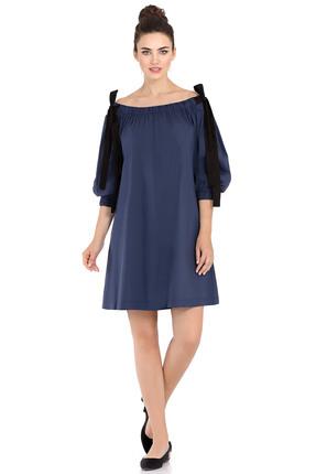 Купить Платье PIRS 403 синий, Платья, 403, синий, 80% хлопок 16% полиэстер 4% эластан, Мультисезон