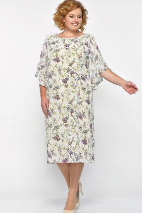 Купить Платье Elga 01-468 светлые тона, Платья, 01-468, светлые тона, ПЭ - 100%, Лето
