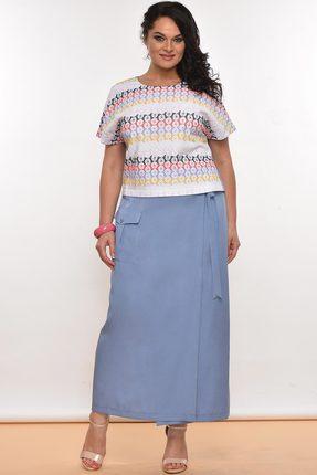 Комплект юбочный Lady Style Classic 1542 синий с белым