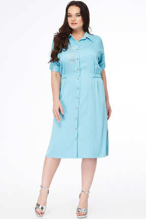 Купить Платье Erika Style 642 мята, Платья, 642, мята, вискоза 72%, ПЭ 25%, спандекс 3%, Лето