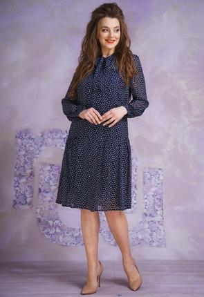 Купить Платье Магия Моды 1364 синие сердечки, Платья, 1364, синие сердечки, ПЭ 100%, Мультисезон