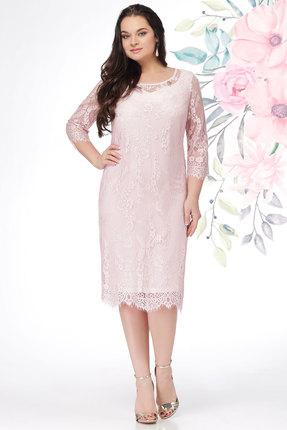 Платье LeNata 11908 пудра, Платья, 11908, пудра, 100% ПЭ (эластичное кружево), Лето  - купить со скидкой