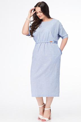 Купить Платье Erika Style 650 голубой, Платья, 650, голубой, хлопок 100%, Лето