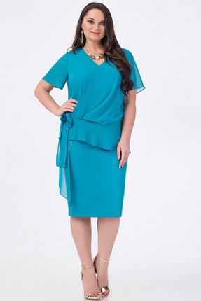 Купить Платье Erika Style 646 бирюза, Платья, 646, бирюза, вискоза 72%, ПЭ 25%, спандекс 3%, Лето
