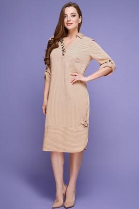 Купить Платье Магия Моды 1404 светлые тона, Платья, 1404, светлые тона, хлопок 40%, вискоза 40%, ПЭ 20%, Мультисезон