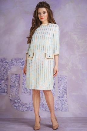 Купить Платье Магия Моды 1402 светлые тона, Повседневные платья, 1402, светлые тона, вискоза 50%, ПЭ 26%, хлопок 20%, эластан 4%, Мультисезон