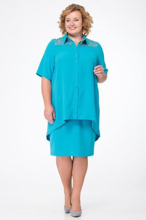 Комплект юбочный Michel Chic 553 голубые тона