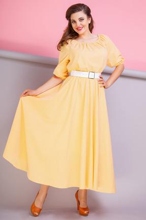 Купить Платье Anastasia 206 желтый, Платья, 206, желтый, Хлопок-60%, ПЭ-40%, Мультисезон