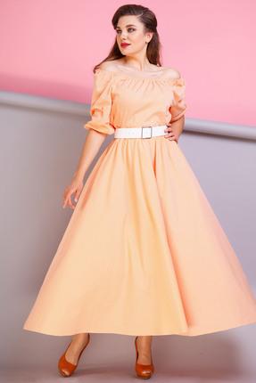 Купить Платье Anastasia 206 оранжевый, Платья, 206, оранжевый, Хлопок-60%, ПЭ-40%, Мультисезон