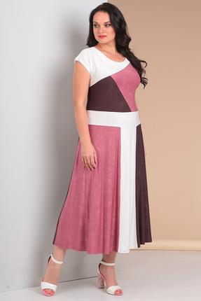 Купить Платье Новелла Шарм 3039 розовые тона, Платья, 3039, розовые тона, креш-масло холодное (п/э 100 %), Лето