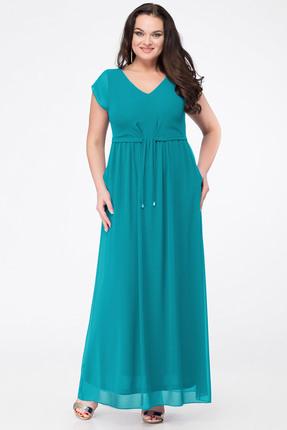 Купить Платье Erika Style 631-2 бирюза, Платья, 631-2, бирюза, вискоза 72%, ПЭ 25%, спандекс 3%, Лето