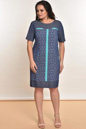 Купить Платье Lady Style Classic 1308 джинс, Платья, 1308, джинс, Вискоза 72%+ПЭ 25%+ПУ 3%, Лето