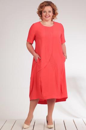 Купить Платье Golden Valley 4461 коралл, Платья, 4461, коралл, вискоза 91%, полиэстер 8%, спандекс 1%, Лето