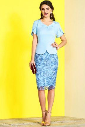 Комплект юбочный Lissana 3433 голубой