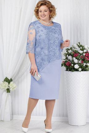 Купить Платье Ninele 2148 тёмно-голубой, Платья, 2148, тёмно-голубой, Полиэстер 70%, Вискоза 25%, Лайкра 5%, кружево - ПЭ-100%, подкладка – Полиэфир 95%, Спандекс 5%, Мультисезон