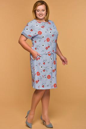 Купить Платье Медея и К 1937 голубые тона, Платья, 1937, голубые тона, 23, 4% вискоза, 70, 7% полиэстер, 5, 9% спандекс, Лето
