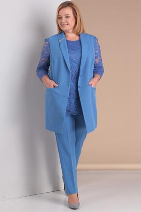 Купить со скидкой Комплект брючный Новелла Шарм 2950-1 голубой