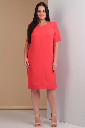Купить Платье Тэнси 208 коралл, Платья, 208, коралл, 64% п/э, 34% вискоза, 2% эластан., Мультисезон