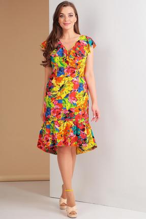 Купить Платье Ксения Стиль 1548 цветной , Повседневные платья, 1548, цветной , п/э 82%, вискоза 14%, спандекс 4%, Лето