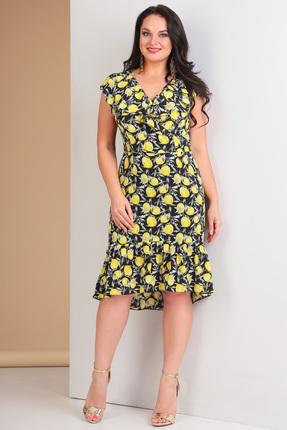 Купить Платье Ксения Стиль 1548 лимон , Повседневные платья, 1548, лимон , п/э 82%, вискоза 14%, спандекс 4%, Лето