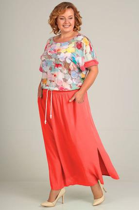 Купить Платье Таир-Гранд 6533 коралл, Платья, 6533, коралл, Состав: штапельная вискоза - 100%, Мультисезон
