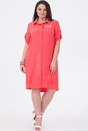 Купить Платье Erika Style 588-6 коралл, Платья, 588-6, коралл, Вискоза 72%, ПЭ 25%, спандекс 3%, Лето