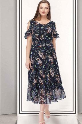 Купить Платье ТАиЕР 704 тёмно-синий, Платья, 704, тёмно-синий, Вискоза 45%, ПЭ 55%, Лето