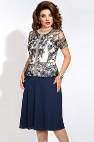 Платье Vittoria Queen 6353 синий с молочным
