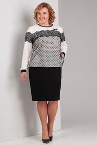 Комплект юбочный Диамант 1330 черно-белый