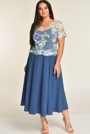 Купить Платье Elga 01-551 голубой, Платья, 01-551, голубой, 68% Вискоза 30% ПЭ 2% Спандекс, Лето