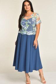 Платье Elga 01-551 голубой