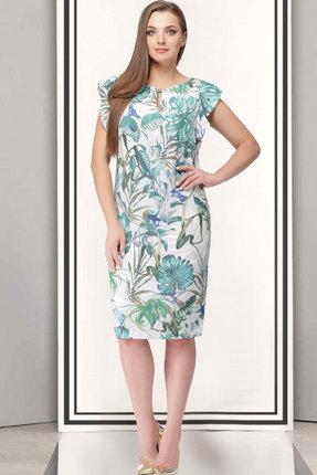 Купить Платье ТАиЕР 710 светлые тона, Платья, 710, светлые тона, Вискоза 45%, ПЭ 55%, Лето